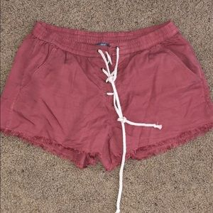 Aerie coral shorts, never worn